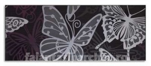 Poza 1 Placa decor Mariposa Negro