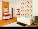 Ambient orange si alb cu faianta si gresie Orotava